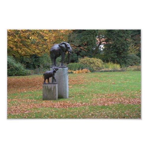 Elephant statues in the palace garden of Soestdijk