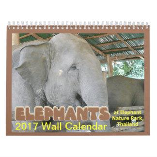 Elephants 2017 Calendar Thai Elephant Nature Park
