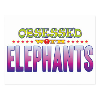 Elephants 2 Obsessed Postcard