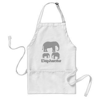 Elephants Adult Apron