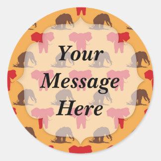 Elephants African Pattern Stickers