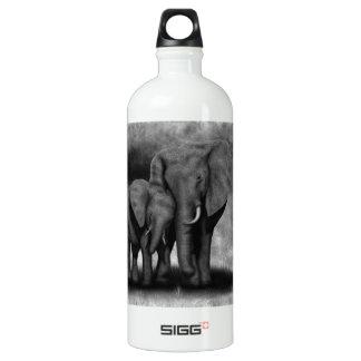 Elephants Aluminum Water Bottle