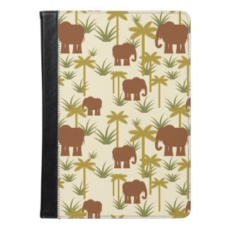 Elephants And Palms In Camouflage iPad Air Case