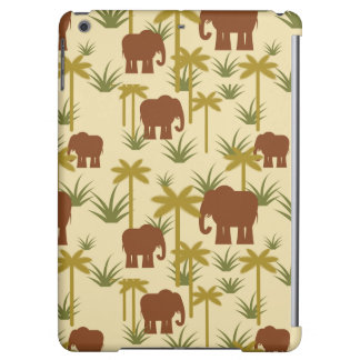 Elephants And Palms In Camouflage iPad Air Covers