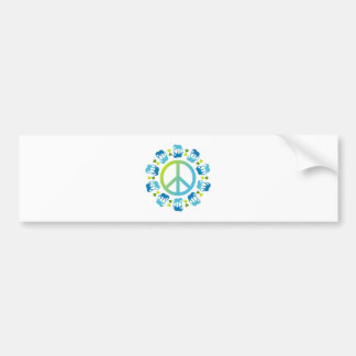 Elephants and Peace Bumper Sticker