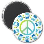 Elephants and Peace Magnet