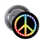 Elephants and Peace Symbol Button