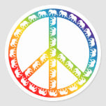 Elephants and Peace Symbol Sticker