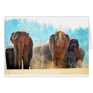 Elephants Animals Safari Destiny Peace Love Greeting Card