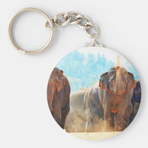 Elephants Animals Safari Destiny Peace Love Keychains