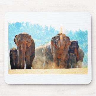 Elephants Animals Safari Destiny Peace Love Mouse Pads