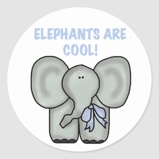 Elephants Are Cool Classic Round Sticker