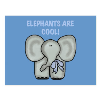 Elephants Are Cool Tshirts and Gifts Postcard