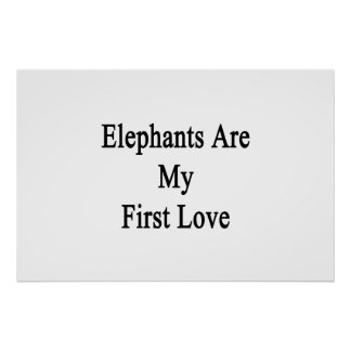 Elephants Are My First Love Poster