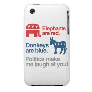 ELEPHANTS ARE RED. DONKEYS ARE BLUE. iPhone 3 Case-Mate CASES