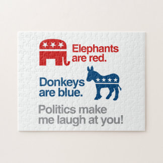 ELEPHANTS ARE RED DONKEYS ARE BLUE JIGSAW PUZZLES