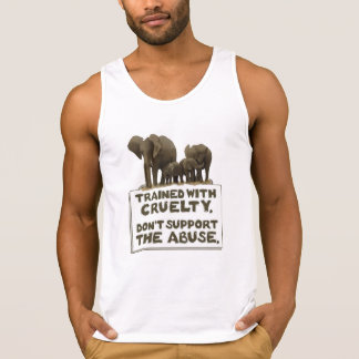 Elephants are Trained With Cruelty Tanktop