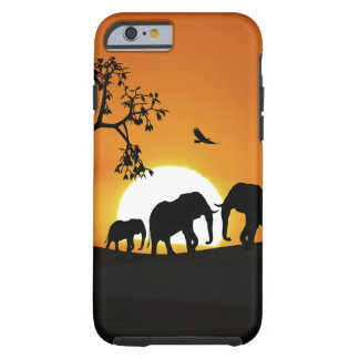 Elephants at sunset tough iPhone 6 case