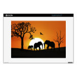 "Elephants at sunset skin for 15"" laptop"