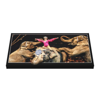 Elephants At The Circus Canvas Print