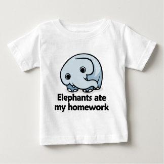 Elephants ate my homework baby T-Shirt