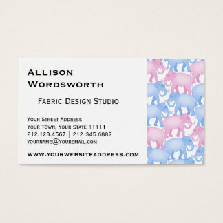 Elephants Baby Shower or Gender Reveal Business Card