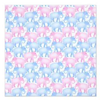 Elephants Baby Shower or Gender Reveal Card