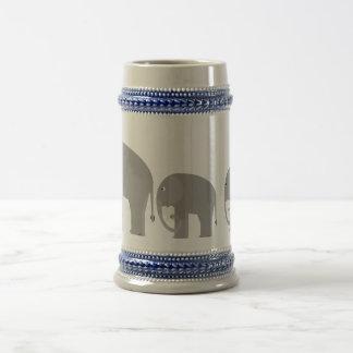 Elephants Beer Stein