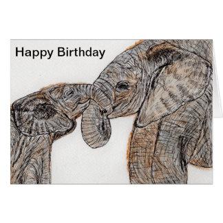 Elephants Birthday Card mum dad son daughter etc