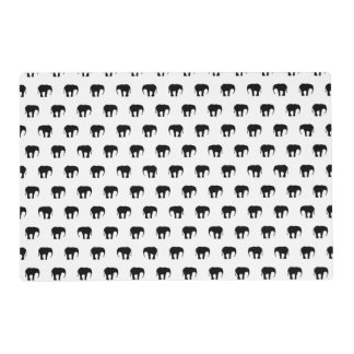 Elephants - Black And White Placemat