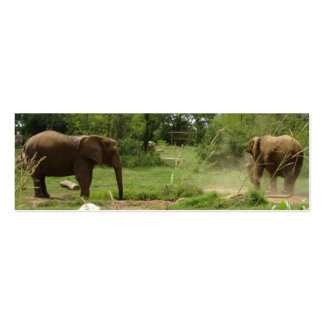 Elephants Bookmark Double-Sided Mini Business Cards (Pack Of 20)