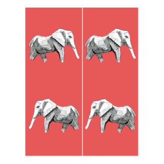 Elephants Bookmark Postcard