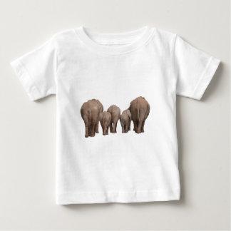 Elephants' Butts - Elephant Family Baby T-Shirt
