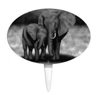 Elephants Cake Toppers