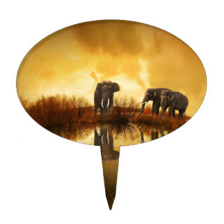 Elephants Cake Pick