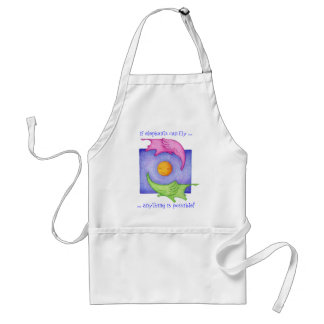 Elephants Can Fly Apron