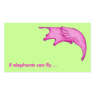 Elephants Can Fly! Profile Card Business Card Template