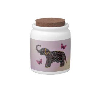 Elephants Candy Jar