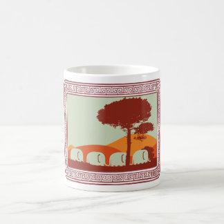 elephants classic white coffee mug