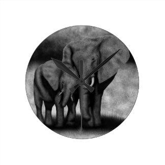 Elephants Wallclocks