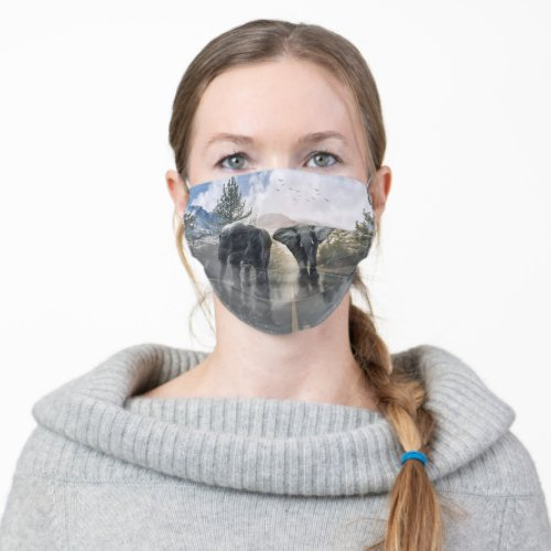 Elephants Cloth Face Mask