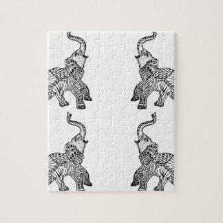 Elephants commands it jigsaw puzzle