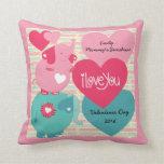 Elephants Customized Valentine Pillow