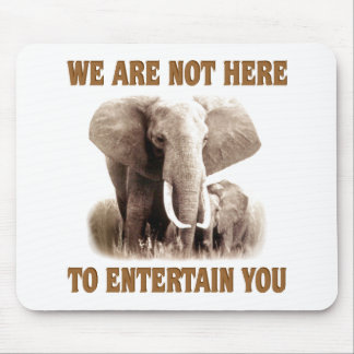 Elephants Deserve Respect Mouse Pad