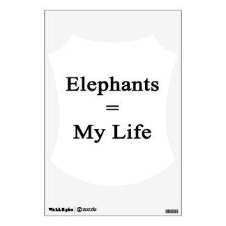 Elephants Equal My Life Wall Graphic