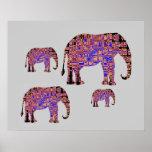 Elephants Family Poster