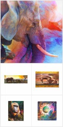 ELEPHANTS * GIRAFFES * APES * ZEBRA