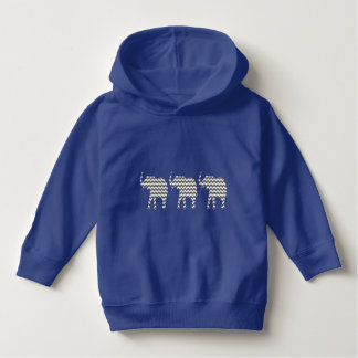 Elephants Gray and White Zigzag Chevrons Pattern Hoodie