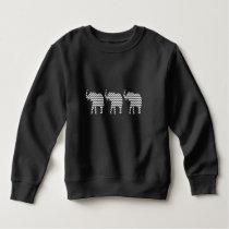 Elephants Gray and White Zigzag Chevrons Pattern Sweatshirt