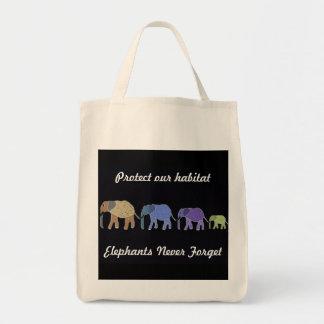 Elephants Habitat Organic Grocery Tote